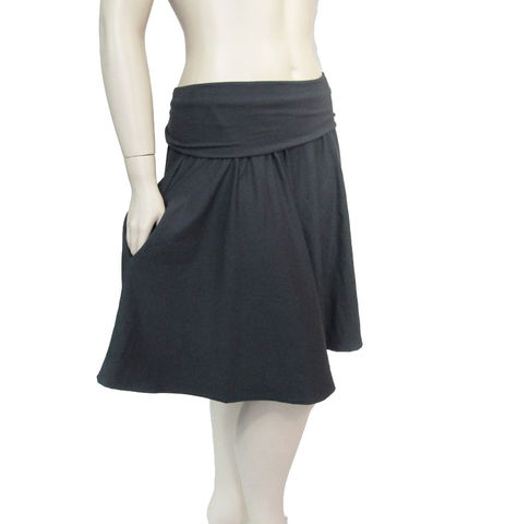 The,Kobieta,Pocketed,Half,Moon,Skirt,pocket skirt, pocket cirfcle skirt, skirt with pockets,circle skirt,handmade womens skirt,womens jersey skirt,womens knit skirt,foldover waist skirt,  kobieta,eco friendly,plus size skirt,made to order skirt,petite skirt,custom skirt,custom womens skirt