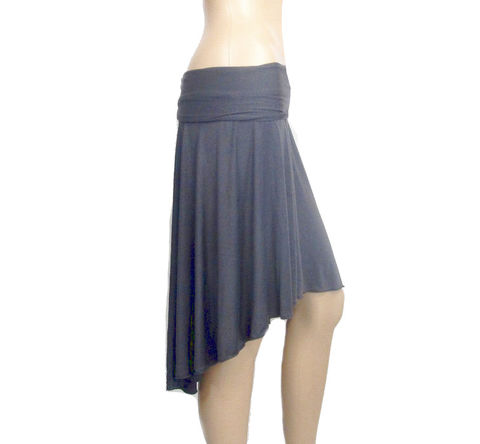 The,Kobieta,Lily,Skirt,high-low skirt, hi-low skirt,womens assymetrical skirt,knit skirt,jersey skirt,bamboo skirt,custom made skirt,asymmetrical skirt,made to order skirt,yoga skirt,stretch knit skirt,modern skirt,minimalist skirt, bamboo,viscose,lycra,beechtree
