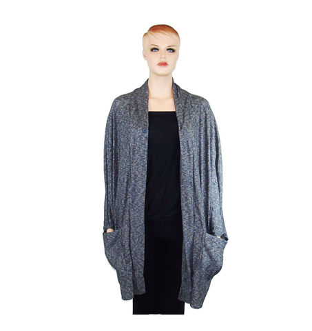 Cocoon,Pocket,Cardigan,-,Heathered,Charcoal,LightWeight,Knitted