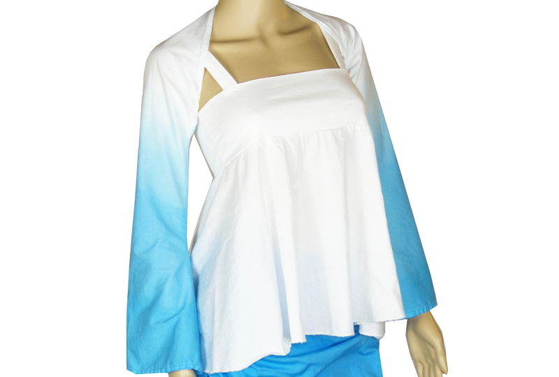 Organic Cotton&Bamboo Jersey Gradient Dyed Yoga Shrug  - product images  of