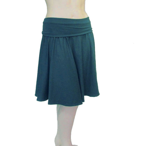 Women's,Organic,Half,Circle,Skirt-Organic,Cotton/Bamboo,Jersey-Hand,Dyed-Lusciously,Soft!Your,Choice,of,Forest,Green,,Olive,or,Teal,Size,S/M