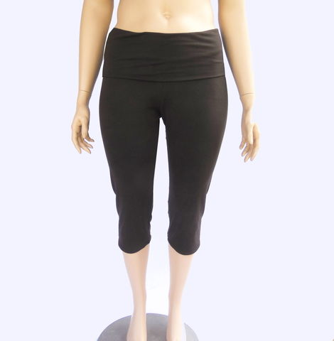 Women's,Cropped,Yoga,Pants/Capris-,Organic,Cotton/Bamboo,Stretch,Knit,-,Chocolate,Brown,Size,L/XL,womens yoga clothing,cropped yoga pants,yoga capris,plus size yoga pants,yogawear,bamboo yoga pants,custom made yoga pants,custom made yoga capris,kobieta,stretch capris,yoga knit pants,yoga knit capris,custom yoga wear, leggings,bamboo,lycra,jersey,stret
