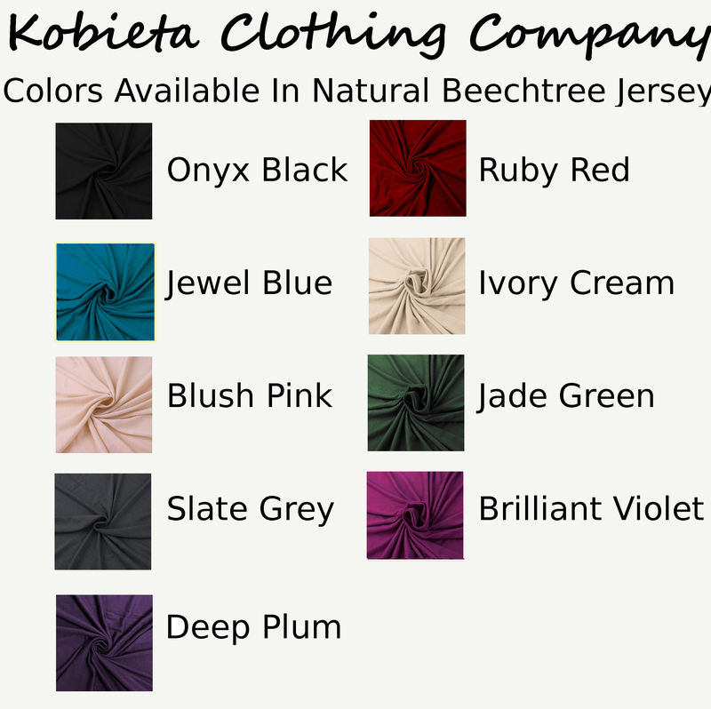 Complete Swatch Sets of Current Colors and Fabrics that Kobieta Clothing Co. Offers - product images  of