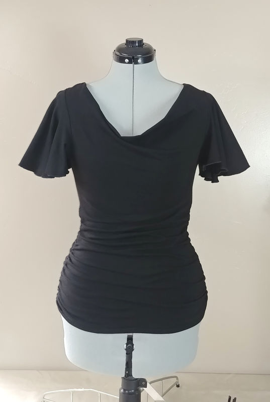 The Kobieta Siren Tunic - Ready to Ship - Size Small/Medium - Onyx Black - Organic Cotton/Bamboo - product images  of