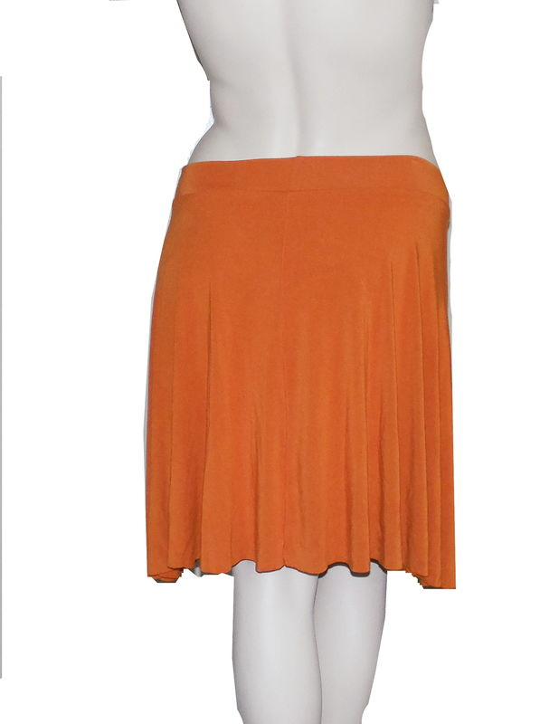 Kobieta Bamboo Jersey Half Circle Skirt in Hand Dyed Orange- Size Large/XL - product images  of