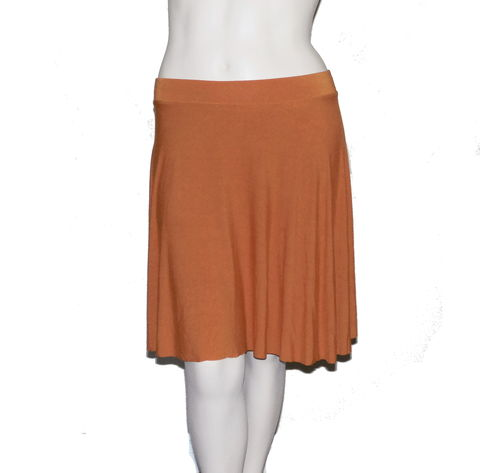 Kobieta,Bamboo,Jersey,Half,Circle,Skirt,in,Hand,Dyed,Burnt,Orange-,Size,2X/3X,bamboo circle skirt, bamboo skirt, handmade skirt