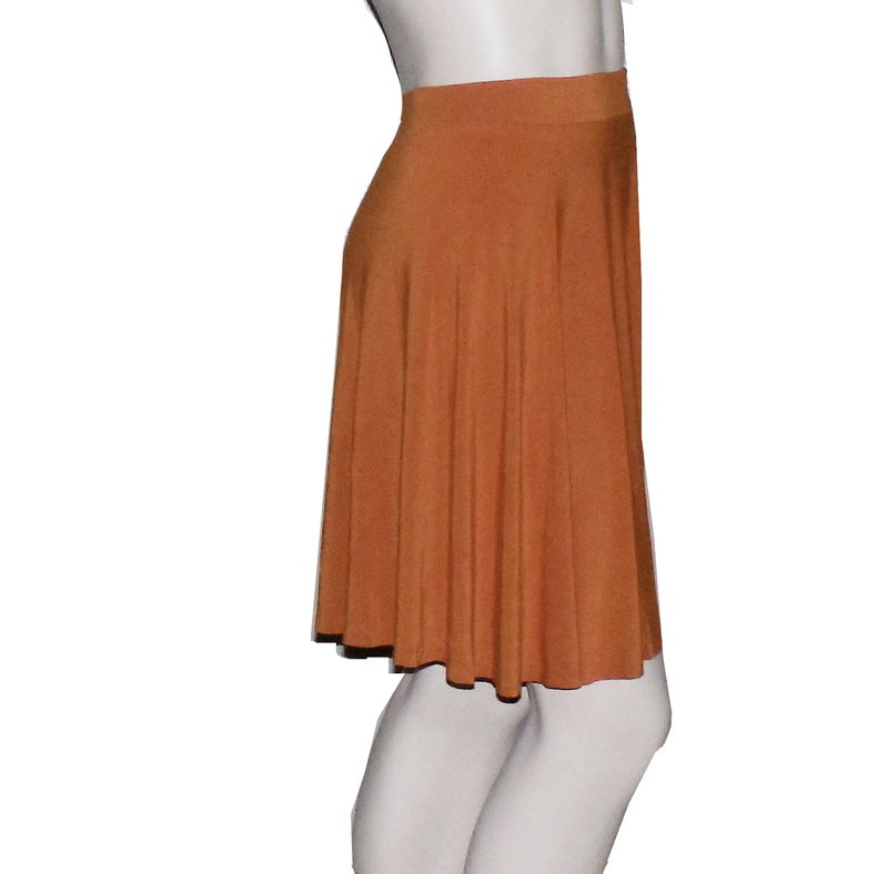Kobieta Bamboo Jersey Half Circle Skirt in Hand Dyed Burnt Orange- Size 2X/3X - product images  of