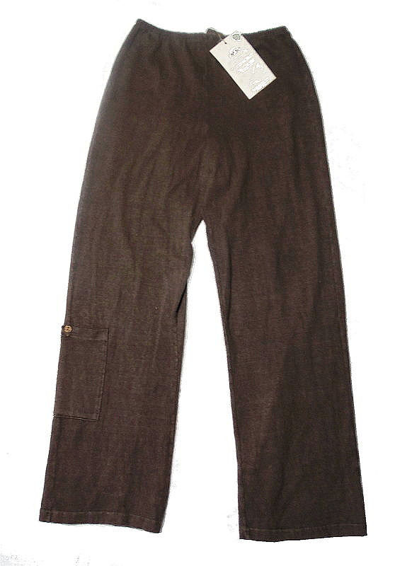 Earth Creations, Incredibly Comfy Hemp Lounge Pants -Cocoa Color, Clay Dyed - Size Medium/Large - product images  of