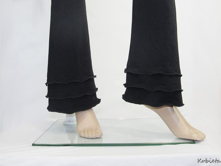 The Kobieta Triple Ruffled Boot Cut Yoga Pants - product images  of