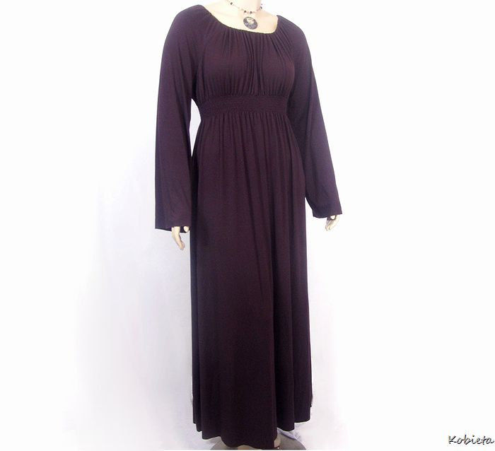 Maxi Peasant Dress with Shirred High Waist - product images  of