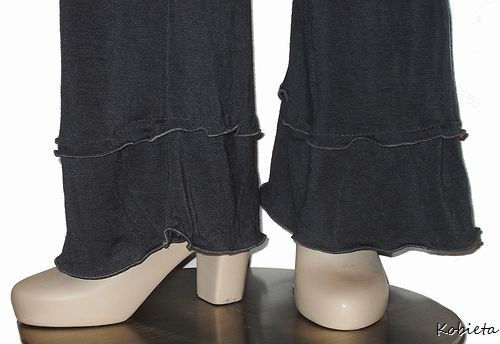 The Kobieta Dual Ruffled Cuff Yoga Pants - product images  of