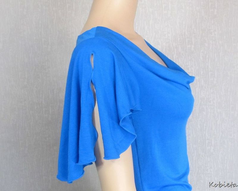 Ruched Drape Neck Cowl Shirt - product images  of