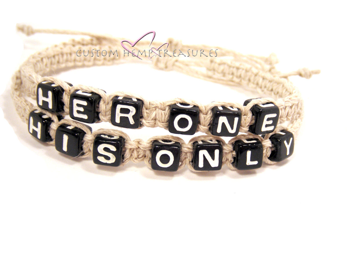 Her One His Only Bracelets, Couples Bracelets Adjustable - product images  of
