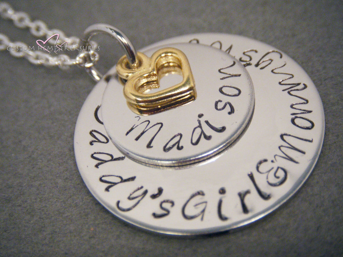 Personalized Name Layered Circle Necklace - product images  of