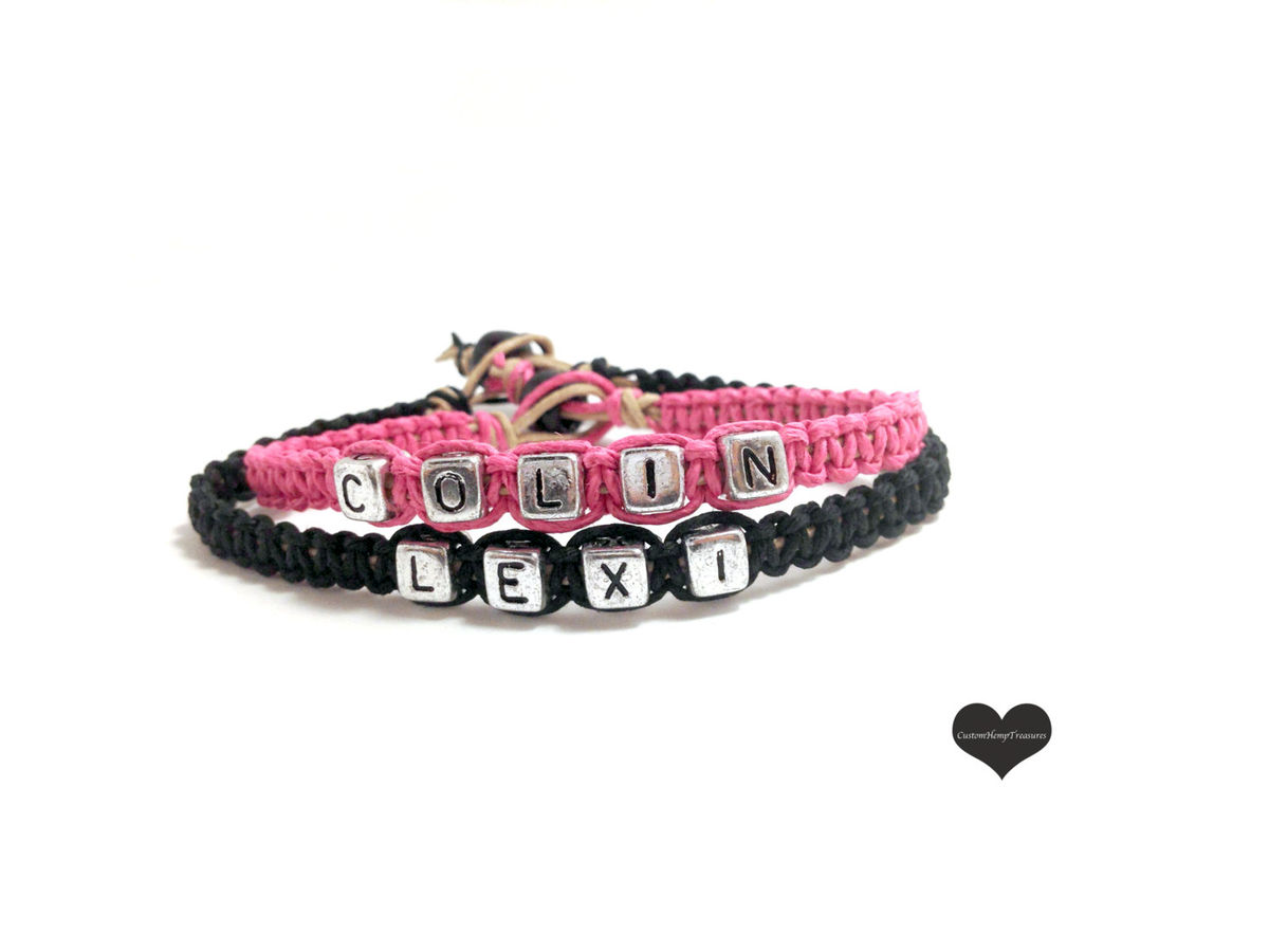 Personalized Couples Bracelets with Custom Names - product images  of