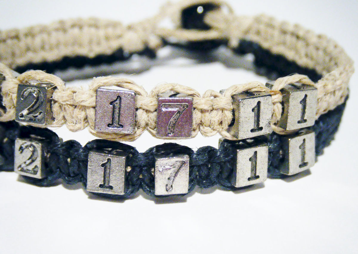 Anniversary Couples Pewter Bead Bracelet for couples - product images  of