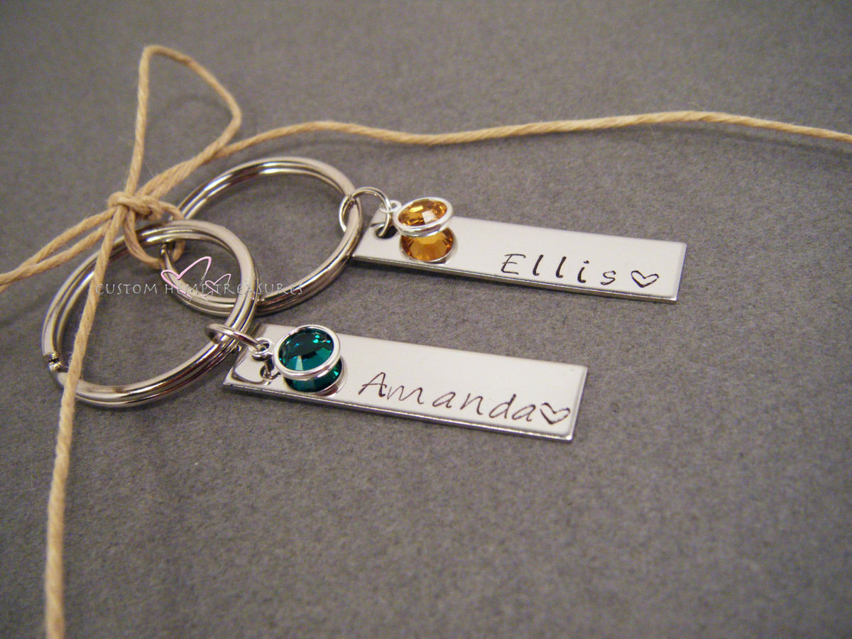 personalized couples keychains customhemptreasures