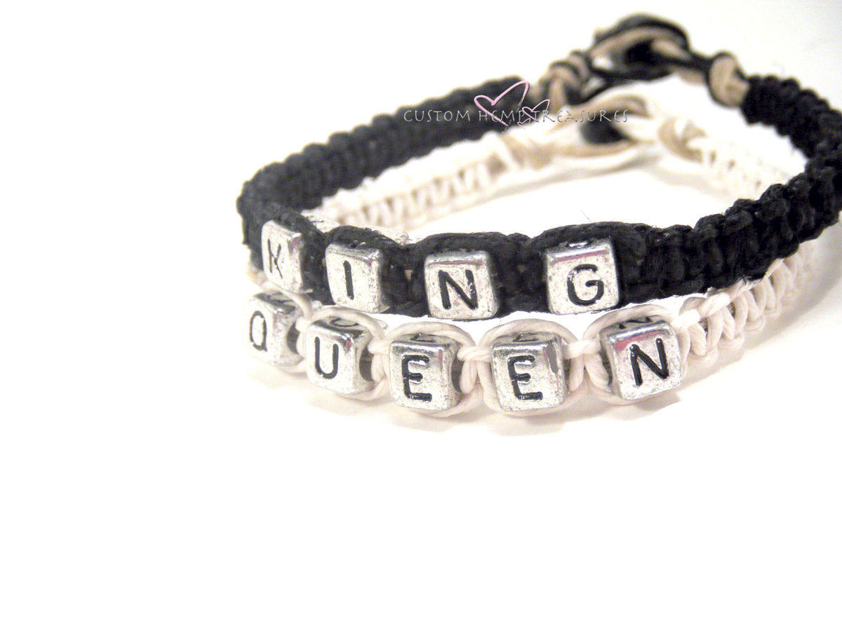 King Queen Bracelets for Couples, Couples Bracelets - product images  of