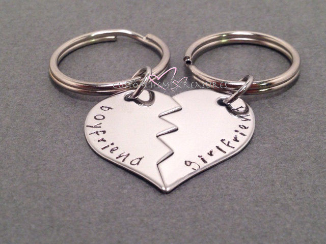 Broken Heart Keychains, Couple Keychains, Boyfriend Girlfriend Keychains - product image