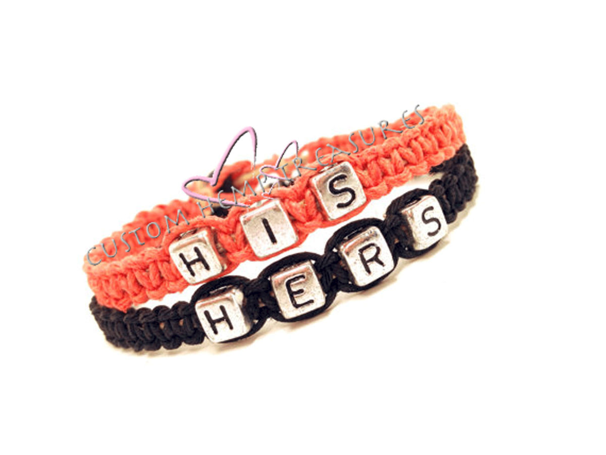 His Hers Couple's Bracelets - product image