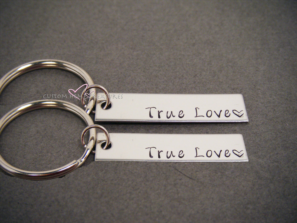 Couples Keychains, True Love Key Chain, Bar Keychain Set - product image