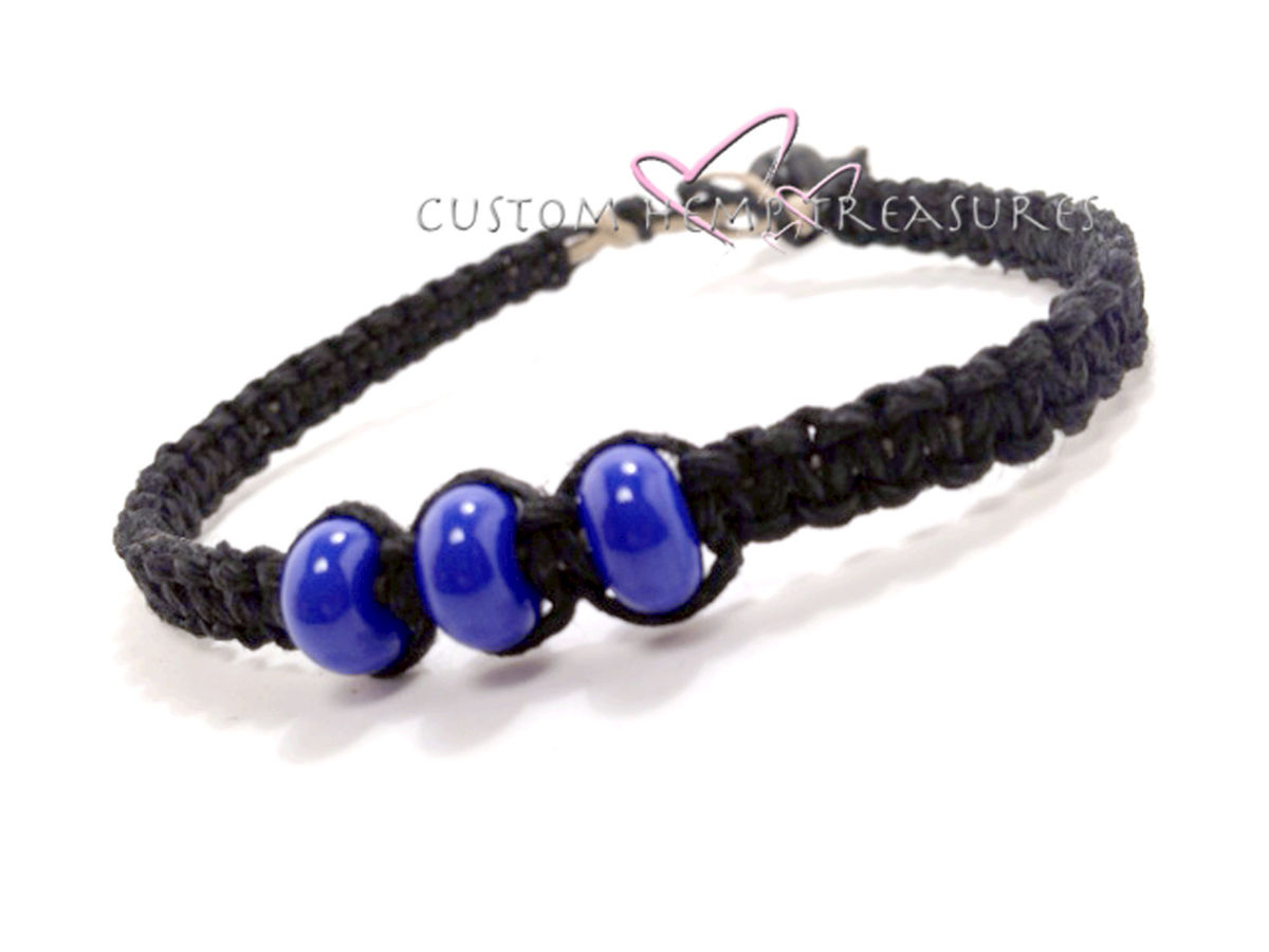 Beaded Hemp Bracelet for Men, Mens Bracelet, Boyfriend GIft - product image