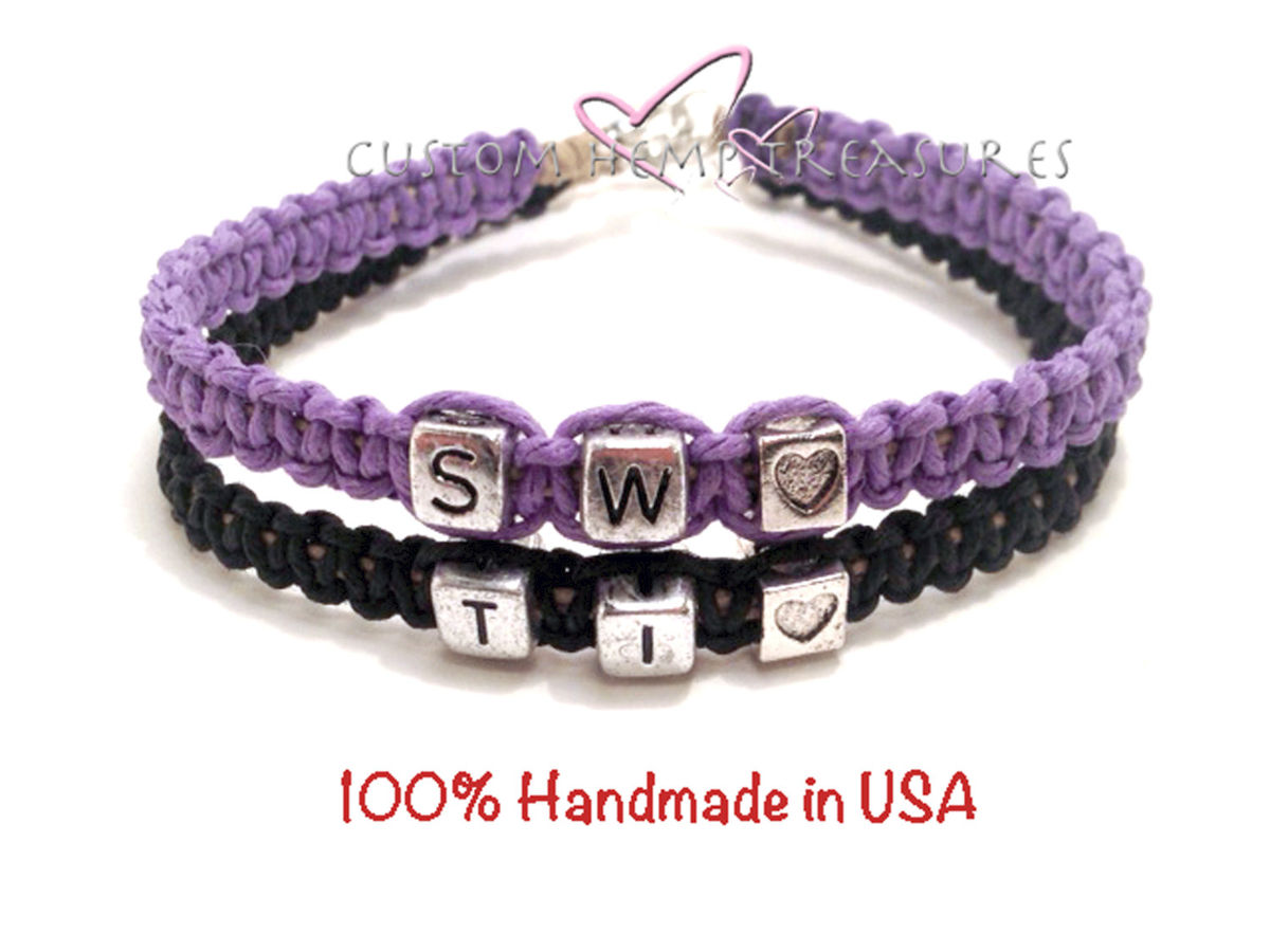 Custom Initial Couples Bracelets - product image