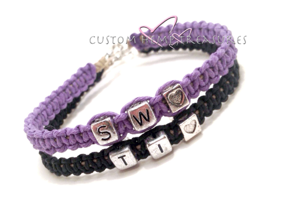 Custom Initial Couples Bracelets - product images  of