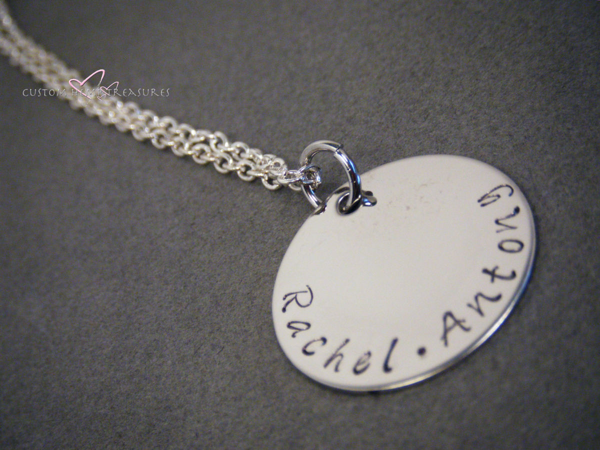 Personalized Stamped Necklace - product images  of