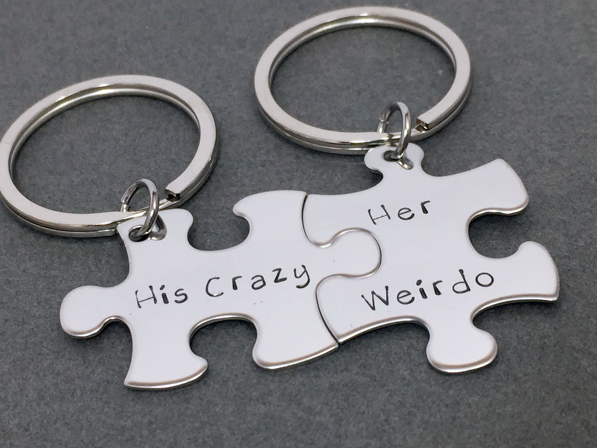 His Crazy Her Weirdo keychains, couples keychains - product images  of