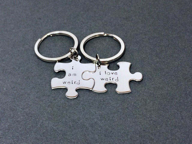I am weird, I love Weird, Couples Keychains - product images  of