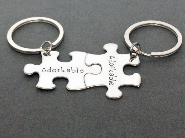 Adorkable Keychains, Couples Keychains - product images  of