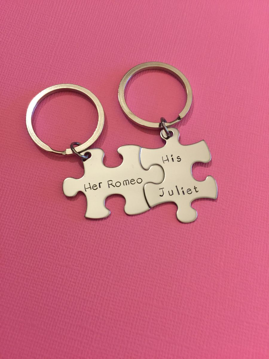 Her Romeo His Juliet Puzzle Piece Keychains - CustomHempTreasures