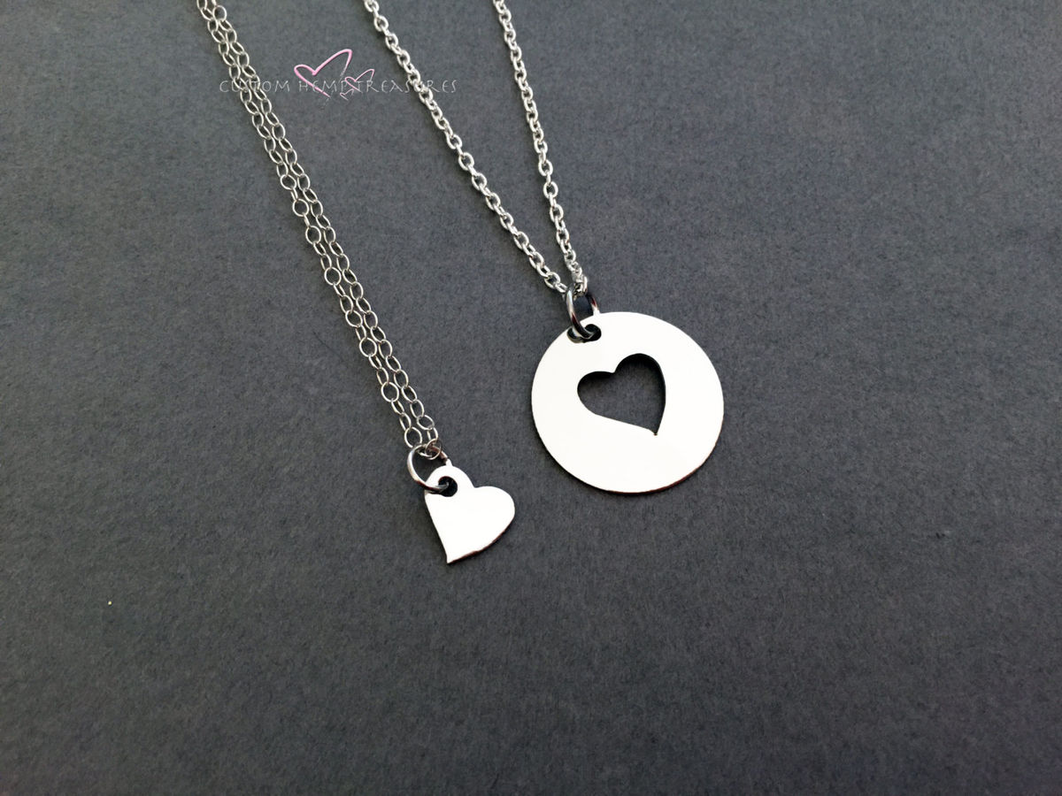 Mother Daughter Heart Necklaces - product image