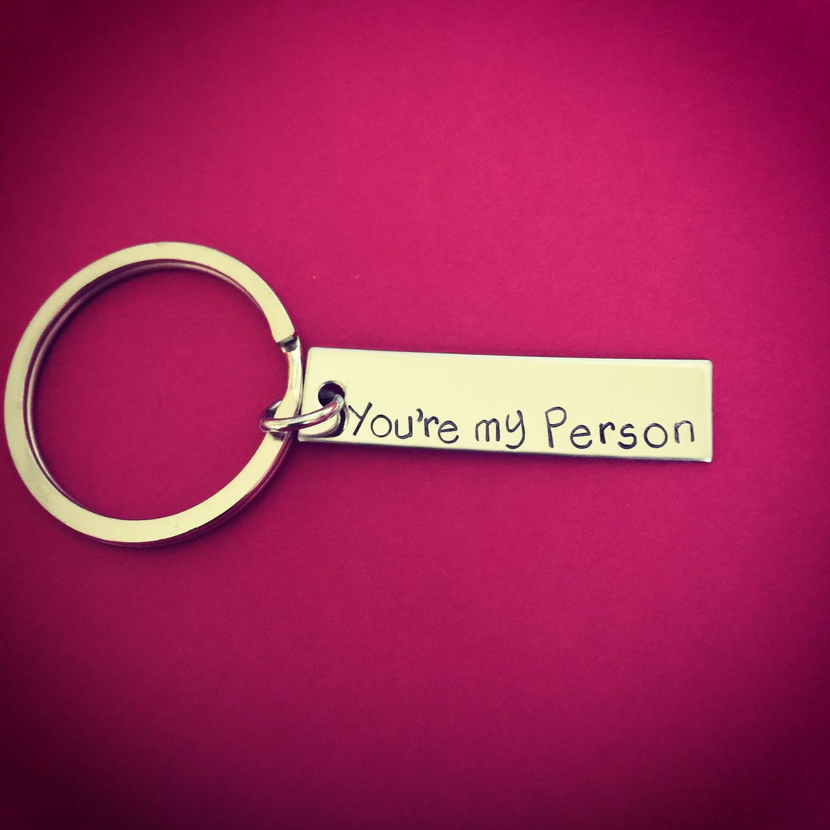 You're my person Keychain, Rectangle Keychain - product images  of