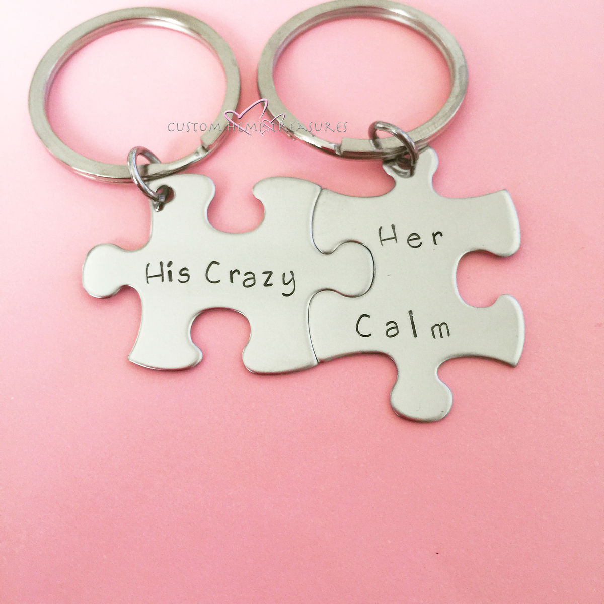 His Crazy Her Calm Keychains - product image