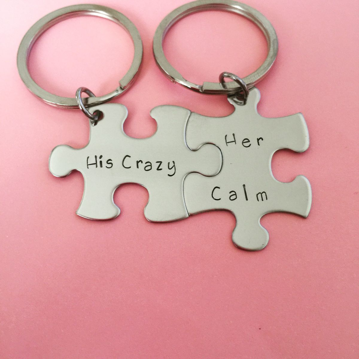 His Crazy Her Calm Keychains - product images  of