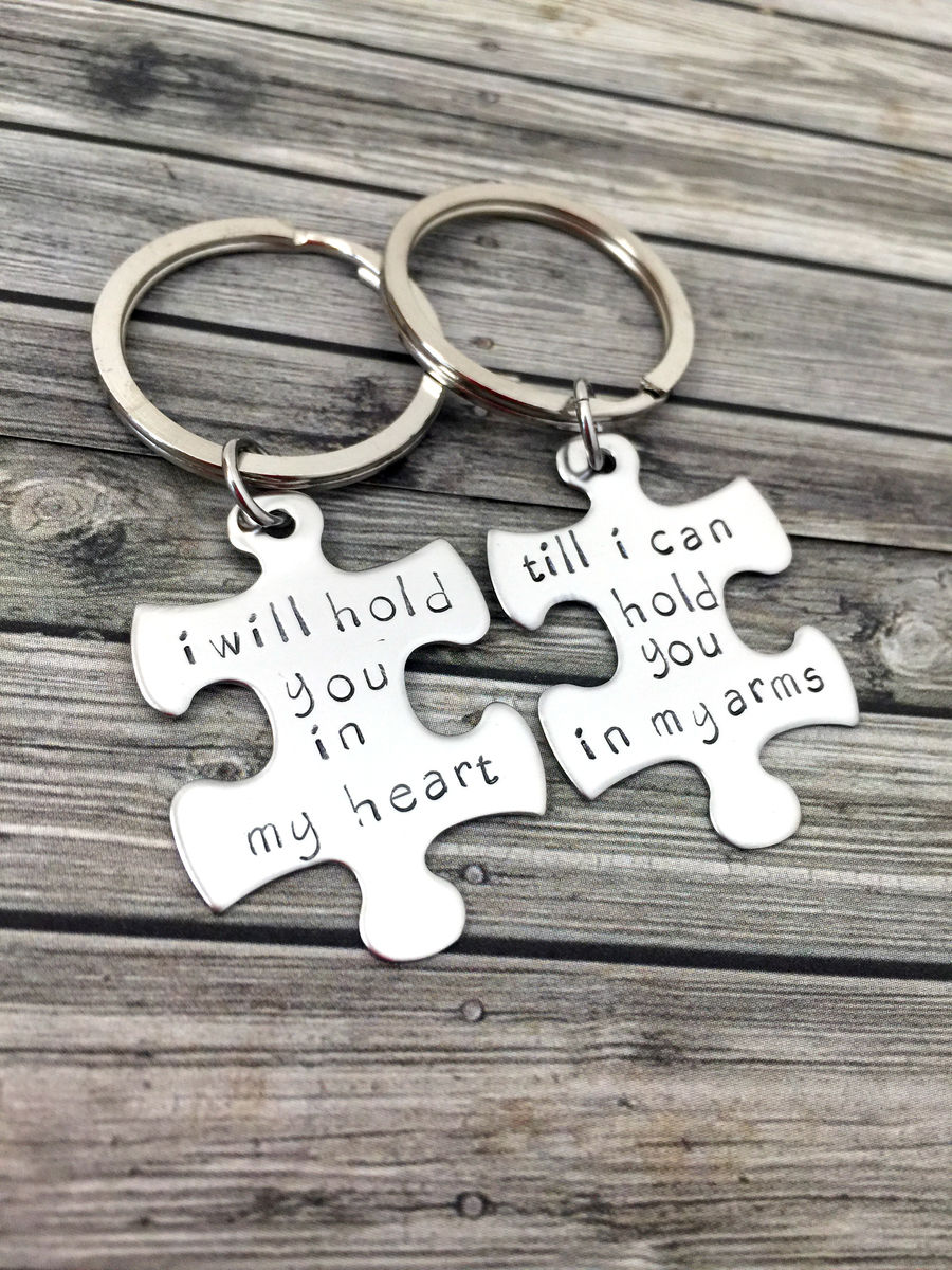 I will hold you in my heart till i can hold you in my arms keychains - product image