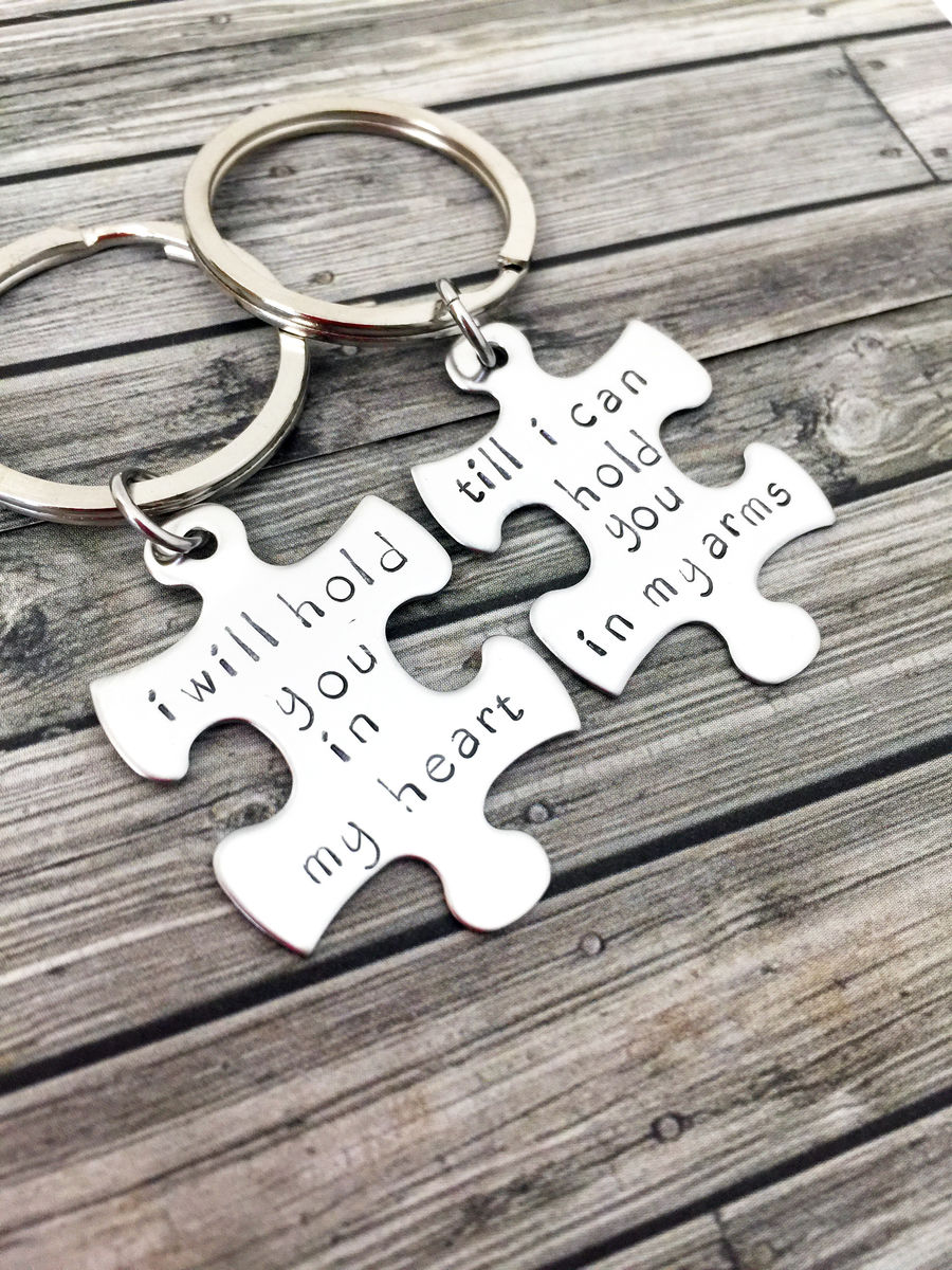 I will hold you in my heart till i can hold you in my arms keychains - product images  of