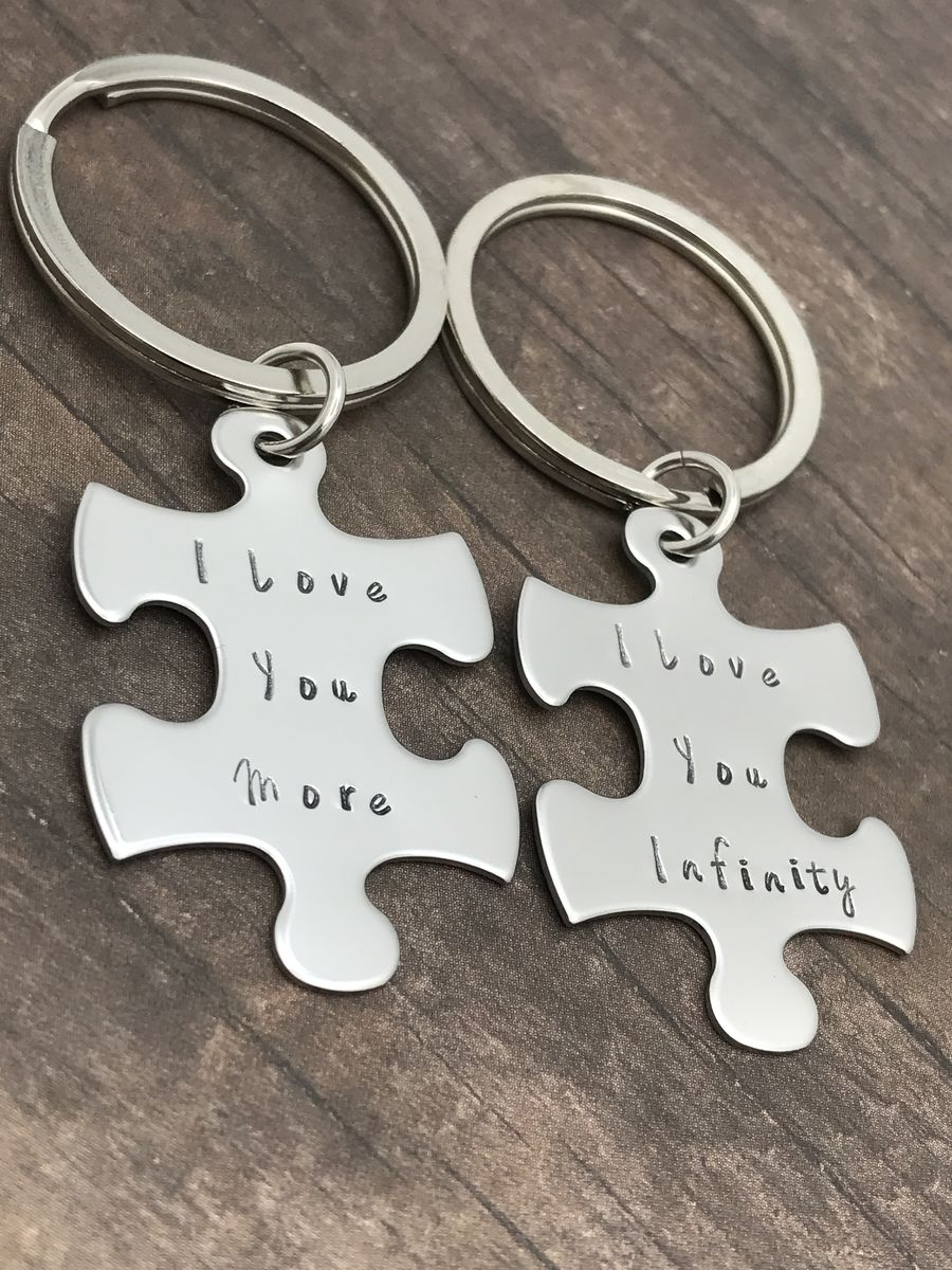 I love you more I love you infinity Keychains, Couples Keychains - product images  of