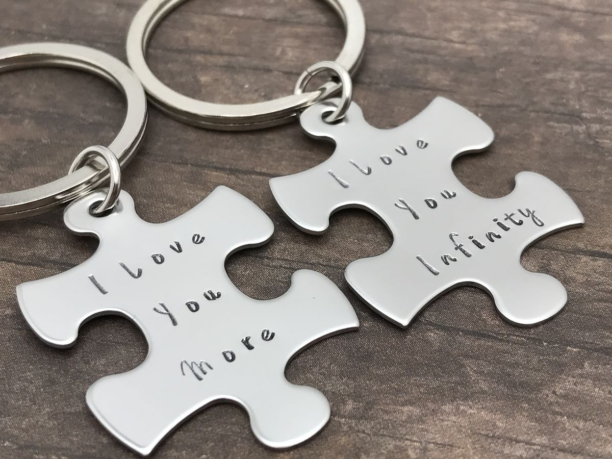 I love you more I love you infinity Keychains, Couples Keychains - product image