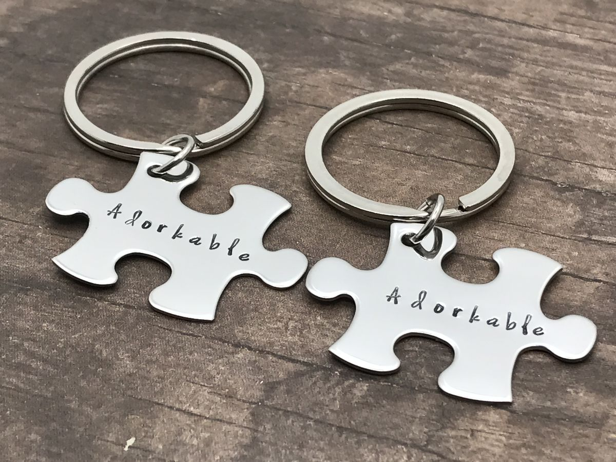 Adorkable Keychains, Couples Keychains - product image