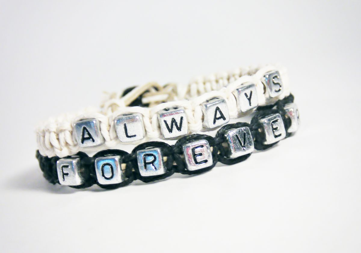 Always Forever Bracelets, Hemp Bracelets, Couples Bracelets - product images  of