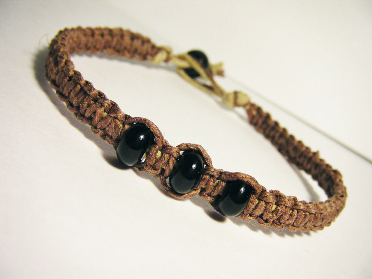Beaded Hemp Bracelet for Men, Mens Bracelet, Boyfriend GIft - product images  of