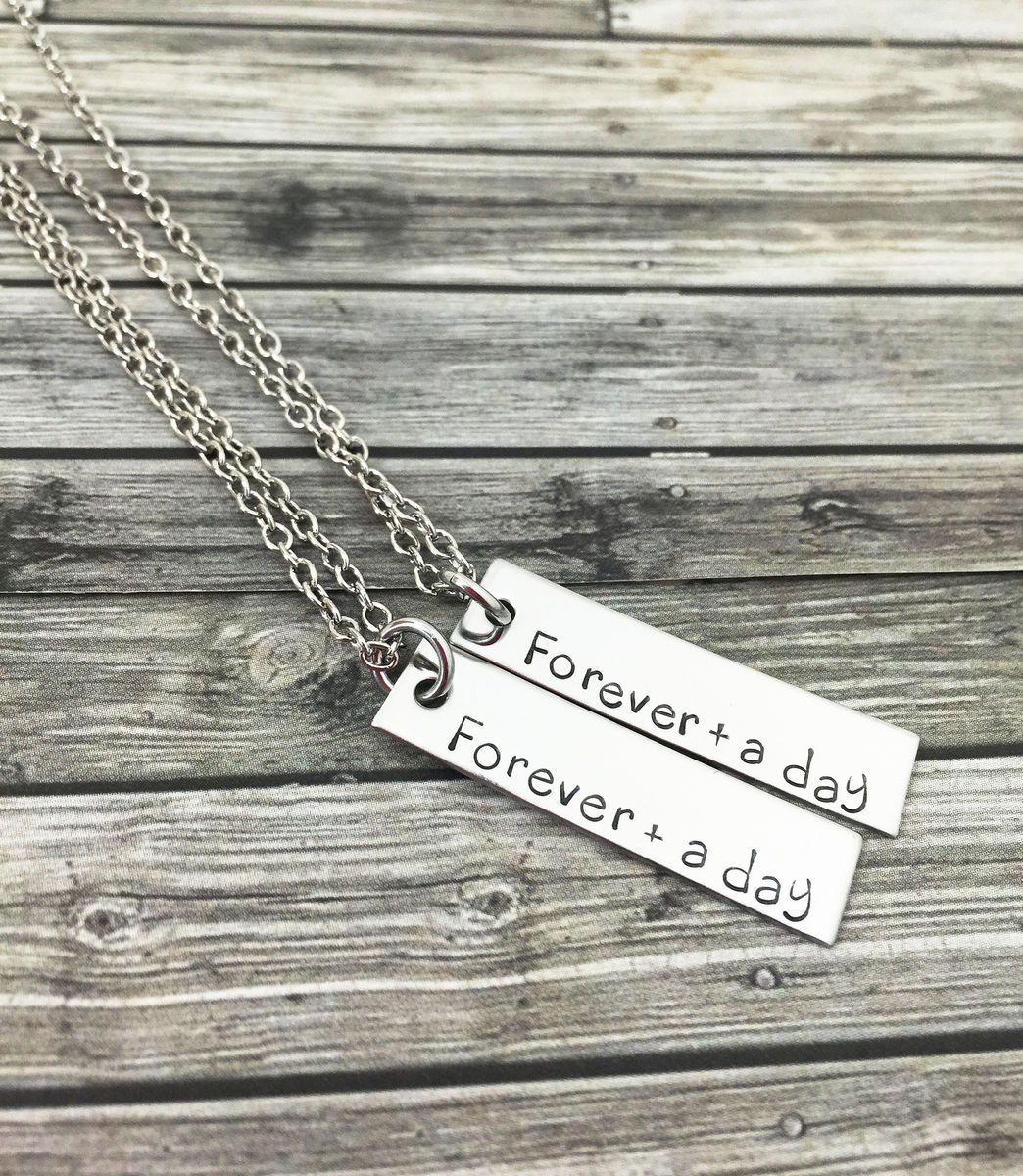 Forever and a day couples necklaces, Couples Jewelry Boyfriend Gift - product image