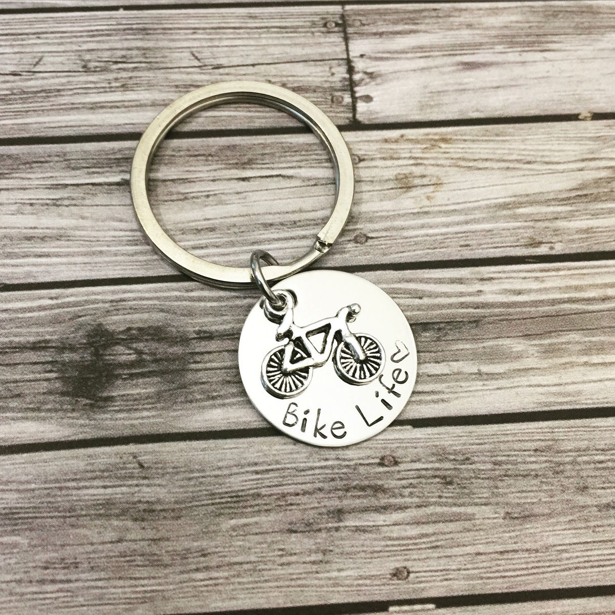 Bike Life Keychain, Bicycle charm keychain for active lifestyle - product image