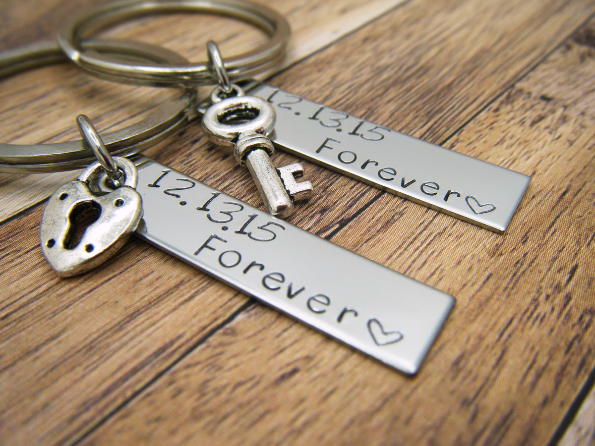 Forever Date Bar Keychains - product image