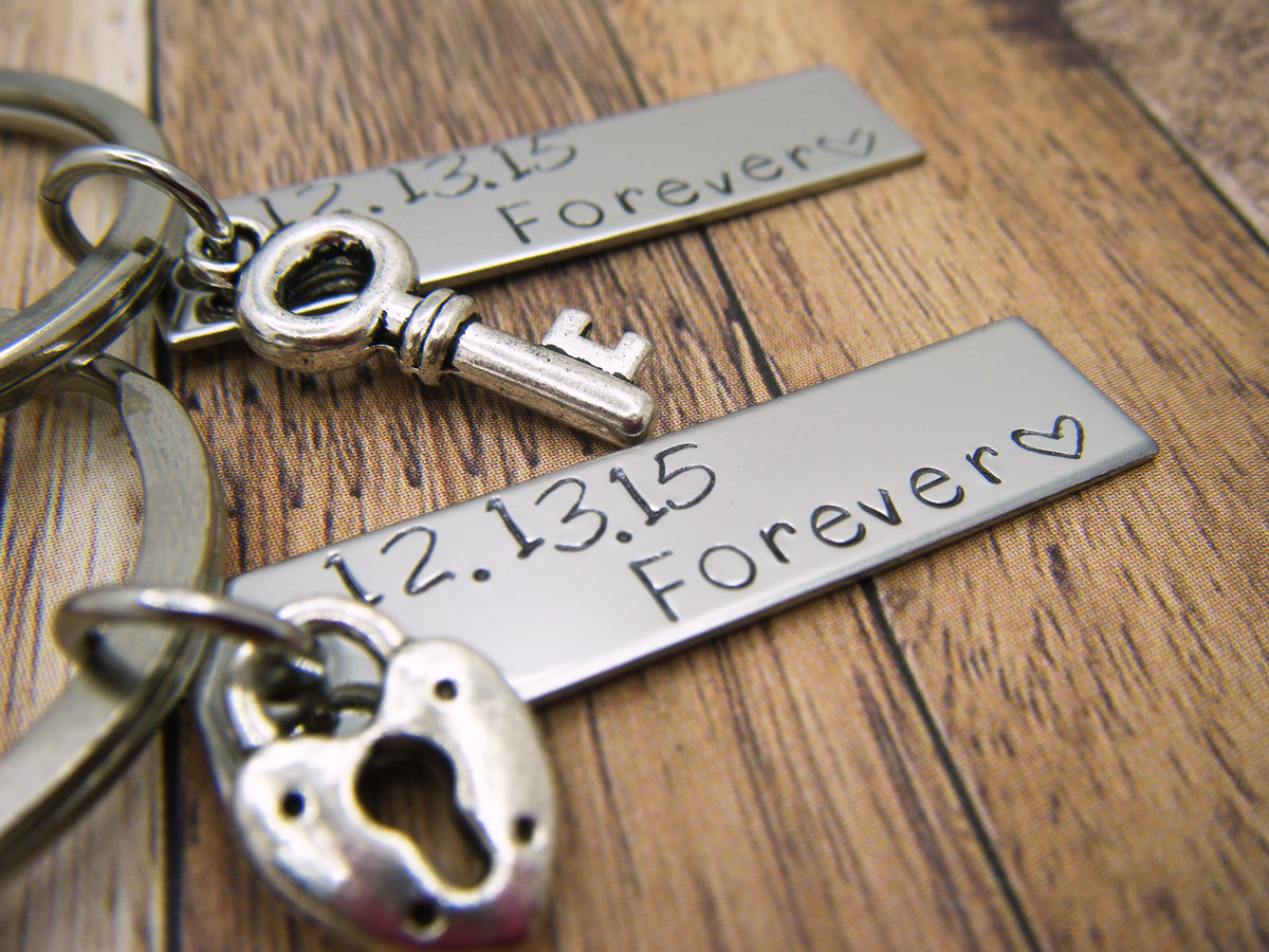 Forever Date Bar Keychains - product images  of