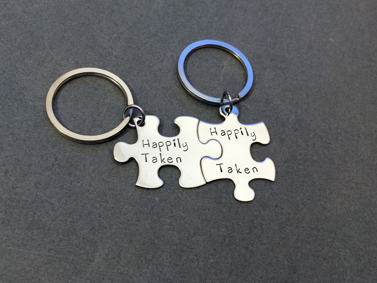 Happily Taken Couples Keychains - product image