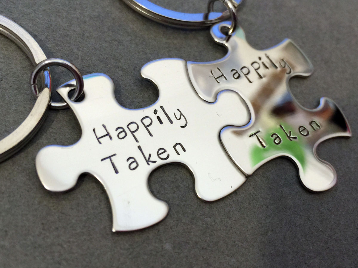 Happily Taken Couples Keychains - product images  of